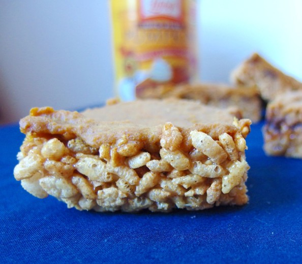 Vegan pumpkin pie rice krispie bars